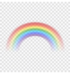 Rainbow icon realistic 1 vector image vector image
