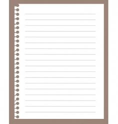 spiral notebook paper vector image