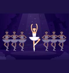 ballet flat ballerinas in vector image
