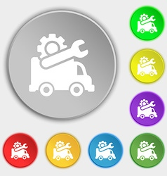 Computer repairs icon sign Symbol on eight flat vector image