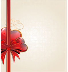 Retro Valentines Day card vector image