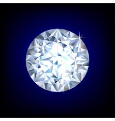 Round diamond vector image vector image