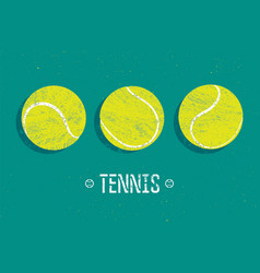 tennis vintage grunge style poster vector image