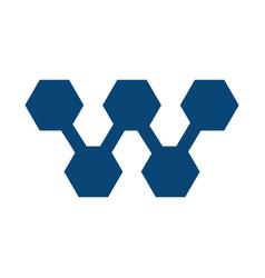 w letter business logo design vector image