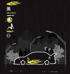 boy racer vector image vector image
