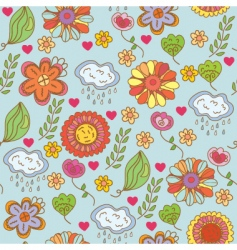 floral nature vector image vector image