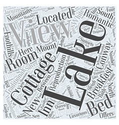 Lake View Cottage Word Cloud Concept vector image