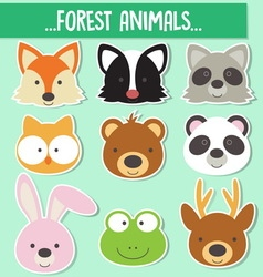 0003 animals face vector image
