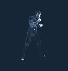 3d human body model sport training martial art vector