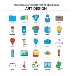 Art and design flat line icon set - business vector
