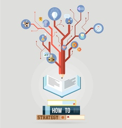 Book with knowledge business strategy plan concept vector image