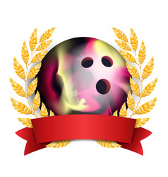 bowing award sport banner background ball vector image