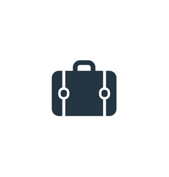 briefcase icon simple element vector image