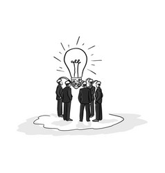 business people brainstorm idea vector image