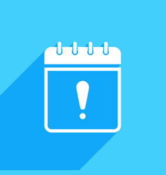 calendar icon with exclamation mark vector image