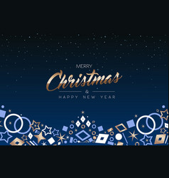 Christmas and new year copper icon ornament card vector
