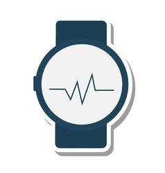 Clock pulse meter isolated icon vector
