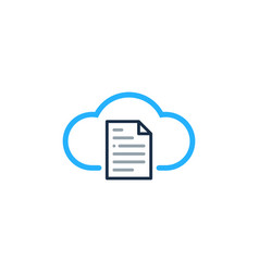 cloud document logo icon design vector image