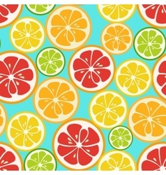 Colorful seamless pattern with lime orange and vector image