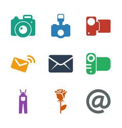 contour icons vector image