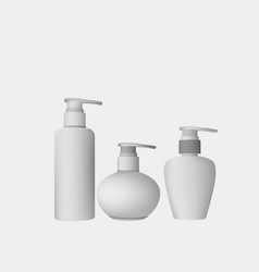 cosmetic bottle realistic template cream clear vector image