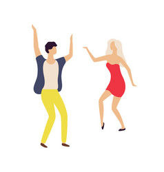 couple dancing in club partying man and woman vector image