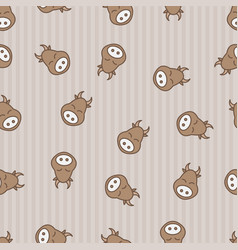 Cow seamless pattern background textile for baby vector