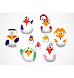 Cute little birds vector