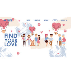 dating website design find vector image