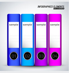 Document folders infographics elements vector