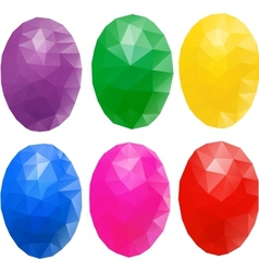 egg polygon vector image