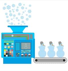 Factory snowmen Apparatus for producing snow vector
