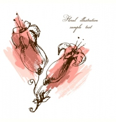 Floral watercolor illustration vector