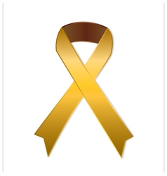 Gold ribbon on white background vector image