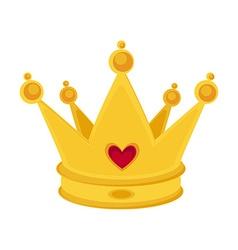 Golden crown vector image