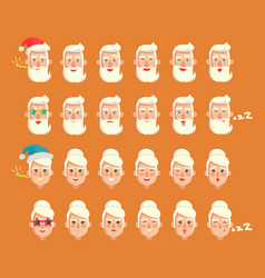 grandparents emotion set vector image