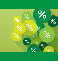 green mark percent discount spring promotion vector image