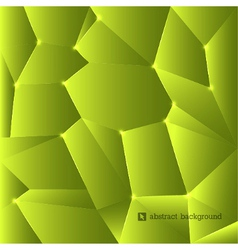 Green triangles background vector image