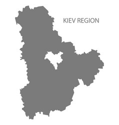 Kiev region ukraine map grey vector