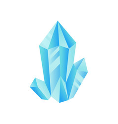Light blue crystal precious gemstone or vector