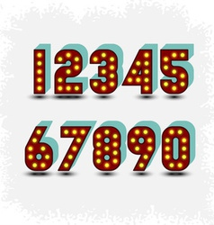lightbulb digits vector image