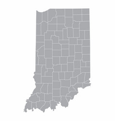 map indiana vector image