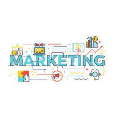 marketing word in business concept vector image