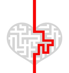 Maze as human heart vector image