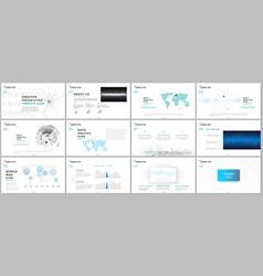 Minimal presentation templates vector