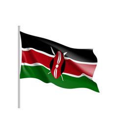 National flag of kenya vector