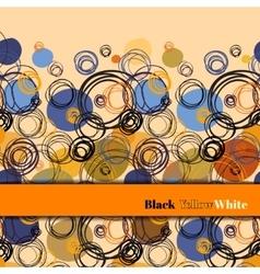 Orange blue geometric background vector