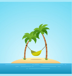 Paradise in hawaii tropical island in the sea vector