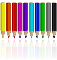 pencil objects vector image