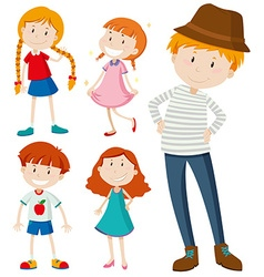 People in different posts vector image